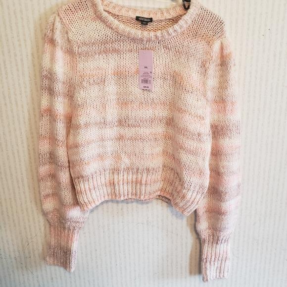 Wild Fable XXL Peach Striped Sweater